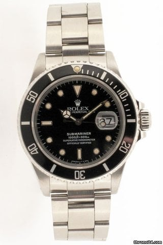 Rolex Rare Oyster Perpetual Submariner. Model No 168000