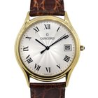Concord 18k  Gold Textured Dial Mens Watch