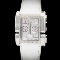 Milus Apiana Stainless Steel And IF-IVVS Diamonds Pink MOP Dial