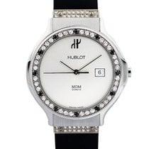 Hublot MDM Black and  Diamond Bezel Stainless Steel Ladies Watch