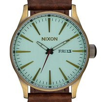 Nixon A105-2223 Sentry Leather Brass Green 42mm 10ATM