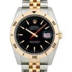 Rolex Datejust 36 116261-BLKSTJ Black Index Turn-O-Graph...