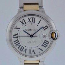 Cartier BALLON BLEU STEEL & GOLD LARGE SIZE 2-YR FELDMAR...