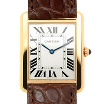 Cartier Tank 18k Rose Gold And Steel Silvery White Quartz...