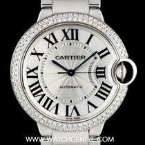 Cartier 18k White Gold Diamond Bezel Ballon Bleu B&P WJBB0008