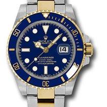 Rolex 116613lb two-tone Submariner Ceramic blue dial