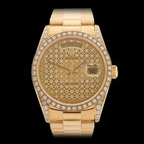 Rolex Day-Date 18k Yellow Gold Unisex 18388