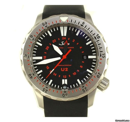 Sinn U2 - Black Dial - Rubber Strap - SINNU2