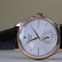 Rolex Cellini Dual Time Pink Gold white Dial