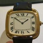 Cartier Tonneau Square XL Paris anni 70 con deployante in oro...