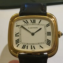 Cartier Tonneau Square XL Paris anni 70 con deployante in oro...