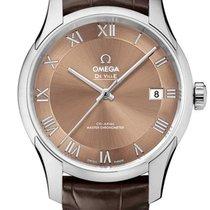 Omega 43313412110001 De VIlle Hour Vision Co-axial Brown