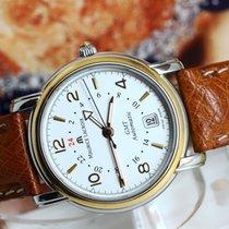 Maurice Lacroix Pontos GMT Date 18K Gold Bezel