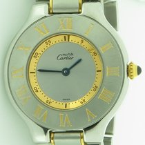 Cartier Must 21 Stainless Steel & 18k Gold Round Watch 2...