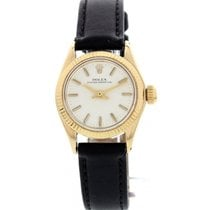 Rolex Ladies Vintage Rolex Oyster Perpetual 14K Yellow Gold...