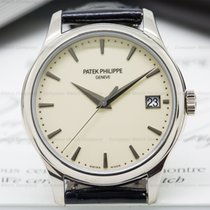 Patek Philippe 5227G-001 Calatrava Automatic Ivory Dial 18K...