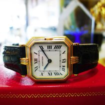 Cartier Ceinture Trinity Solid 18k Tri Gold Roman Numeral Watch
