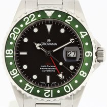 Grovana Automatic Diver GMT Green Bezel NEW 2 Years Warranty...
