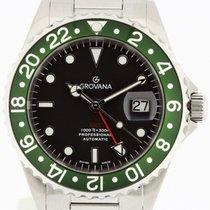 Grovana Automatic Diver GMT Green Bezel NEW 2 Years Warranty...