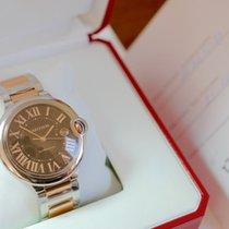 Cartier Ballon  Bleu Stahl Rose Gold,  Choklate 42mm