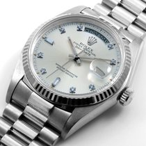 勞力士 (Rolex) 18K White Gold Day-Date Factory 8+2 Diamonds 18039...