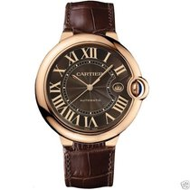 Cartier Ballon Bleu 42mm w6920037 18kt Rose Gold Brown Dial...