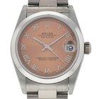 Rolex Midsize Datejust Pink Salmon Dial Watch