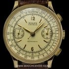 Rolex 18k Yellow Gold Double Name Antimagnetic Chronograph 2508