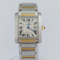 Cartier Tank Francaise Steel & Gold Mid Size. Perfect...