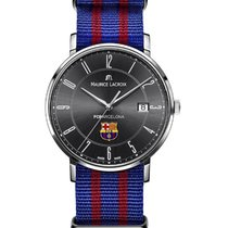 Maurice Lacroix FC Barcelona Eliros Date in Steel with Black Dial