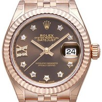 Rolex Lady-Datejust 28 18 kt Everose-Gold 279175 Choco Dia Jubile