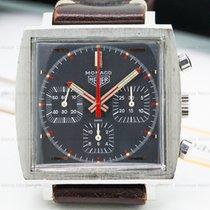 TAG Heuer 73633G Vintage Monaco Chronograph Square SS Grey...