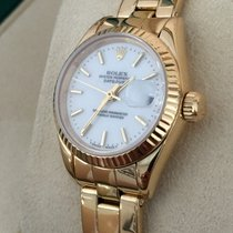 Rolex Oyster Datejust Lady Yellow Gold White Dial 26 mm (1984)