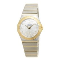 Omega Constellation Gold And Steel White Quartz 123.20.27.60.5...