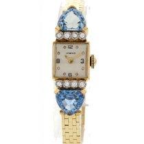 Tiffany Vintage Tiffany & Co YG Aquamarine & Diamond...