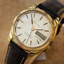 Bulova Set O Matic Automatic Gold Plated Stainless Steel Mens...
