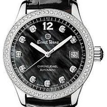 Ernst Benz ChronoJewel - 70 Diamonds - Black MOP - Black...