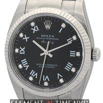 Rolex Air-King 34mm Steel Black Diamond Dial  Ref. 114234