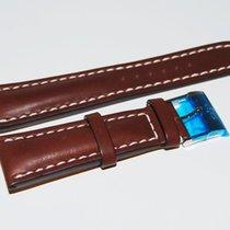 Breitling Kalbslederband mit Dornschliesse, Dunkelbraun 24-20 mm