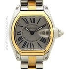 Cartier stainless steel and 18k yellow gold ladies Roadster