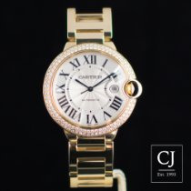 Cartier Ballon Bleu Yellow Gold 42mm Original Diamond Set