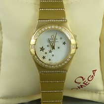 Omega Constellation ladies Yellow gold diamond case and bracelet