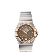 Omega Constellation Co-Axial Automatic Red Gold/Steel Brown...