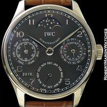 IWC Portuguese Perpetual Calendar II Automatic 18k White Gold New