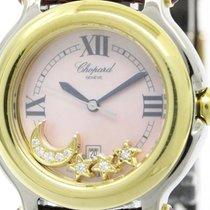 ショパール (Chopard) Polished Chopard Happy Sport Diamond 18k Gold...