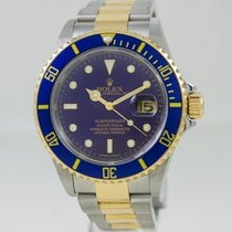 Rolex Submariner Date Two Tone Blue Dial Full Set