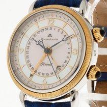 Maurice Lacroix Réveil Gold an blauem Leder Ref. 63511