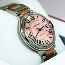 Cartier Ballon Bleu W6920033 36mm 18k Rose Gold & Ss Pink...
