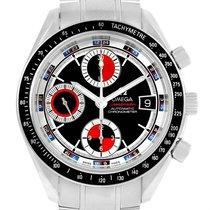 Omega Speedmaster Date Black Red Mens Watch 3210.52.00 Card