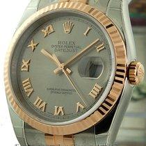 Rolex Datejust Steel / 18k Rose Gold Grey Dial 36mm Ref. 116231